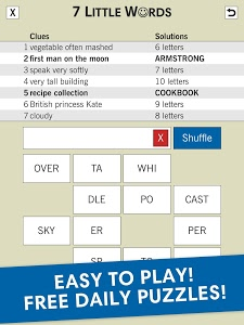 screenshot of 7 Little Words: A fun twist on crossword puzzles version Varies with device