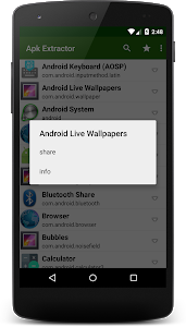 screenshot of Apk Extractor version Varies with device
