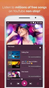 screenshot of Free Music Player for YouTube version 1.122