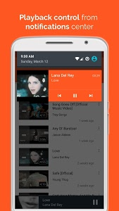 screenshot of Free Music Player for YouTube version 1.076