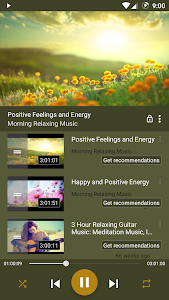 screenshot of AT Player: Free Music YouTube version 1.029