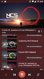 screenshot of AT Player: Free Music YouTube version 1.030