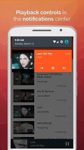 screenshot of Free Music Player for YouTube version 1.094
