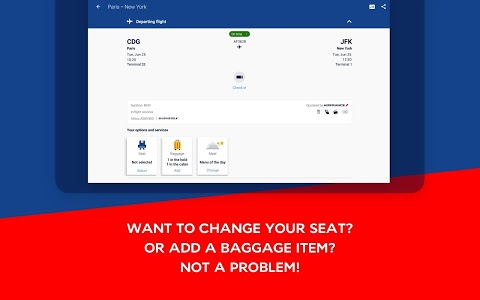 screenshot of Air France - Airline tickets version 4.4.0