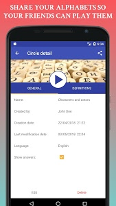 screenshot of Alphabetized! - The Circle of Words version 1.1.0