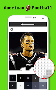 screenshot of American Football Player Color By Number - Pixel version 2.0