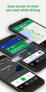 screenshot of Android Auto - Google Maps, Media & Messaging version Varies with device