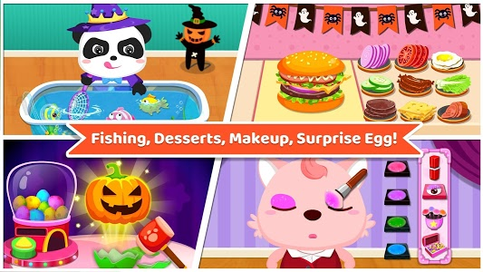 screenshot of Baby Panda's Supermarket-Halloween Party Shopping version 8.27.10.00