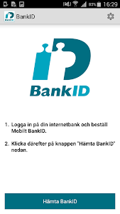 screenshot of BankID säkerhetsapp version 7.4.10