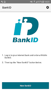 screenshot of BankID säkerhetsapp version Varies with device