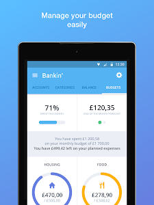 screenshot of Bankin' version 3.11.6