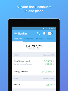 screenshot of Bankin' version 3.10.6