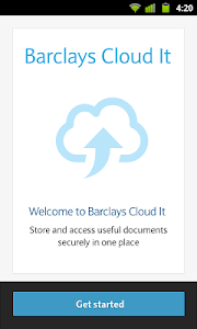screenshot of Barclays Mobile Banking version 1.10