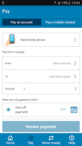screenshot of Barclays Mobile Banking version 1.41