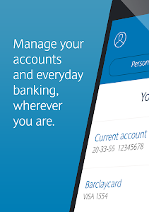screenshot of Barclays Mobile Banking version 1.61