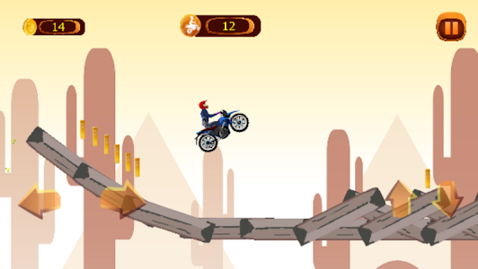 screenshot of Beach bike race version 1.0