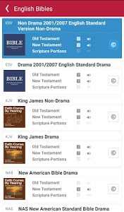 screenshot of Bible: Dramatized Audio Bibles version 2.9.17