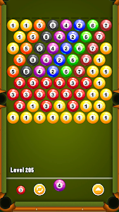 screenshot of Billiards Bubble Shooter version 4.6.1
