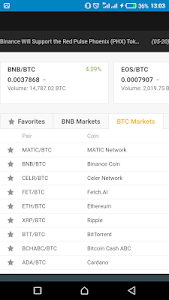 screenshot of Bitcoin browser - trading - mining - faucet version 1.0