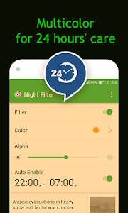 screenshot of Bluelight Filter - night mode version 2.1.3.9