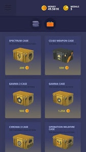 screenshot of CSGO Clicker | Weapons And Cases 2 version 2017.1.5