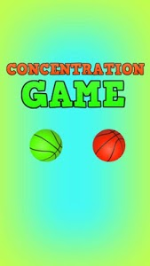 screenshot of Concentration Game version 2.0