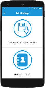 screenshot of Contacts Backup And Restore version 1.1