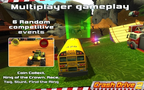 screenshot of Crash Drive 2: 3D racing cars version Varies with device