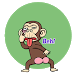 Crazy Monkey Stickers - Studio3 - WAStickerApps