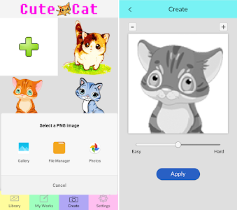 screenshot of Cat Coloring By Number - Pixel Art version 2.0