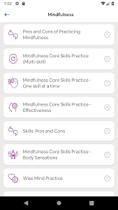 screenshot of DBT Coach: (Dialectical Behavior Therapy app) version 1.5.0