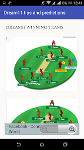screenshot of DREAM 11 TIPS AND PREDICTIONS version 5.0