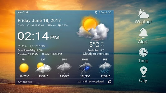 screenshot of Daily&Hourly weather forecast version 16.1.0.47351