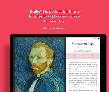 screenshot of DailyArt - Your Daily Dose of Art History Stories version 2.4.1