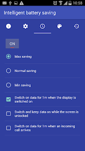 screenshot of Data ON-OFF version Varies with device