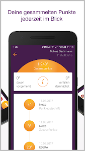 screenshot of DeutschlandCard version 1.20.0