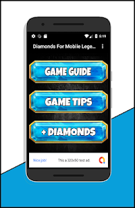 screenshot of Diamonds For Mobile Legands Tips version 1.0