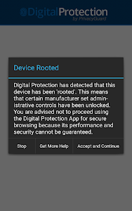 screenshot of Digital Protection by PrivacyGuard version 1.2.3