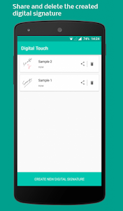 screenshot of Digital Touch : Create colorful digital signature version Varies with device