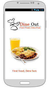 screenshot of Dine Out version 1.0
