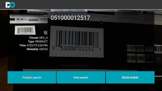screenshot of DoScanners -- QR Code & BAR Code Scanner & Creator version 1.0