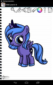screenshot of Draw My Little Pony version 1.01