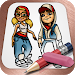Easy Draw: Subway Surfers