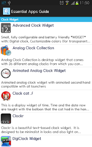 screenshot of Essential Apps Guide version 2.3.6