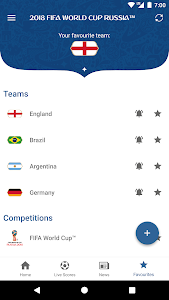 screenshot of 2018 FIFA World Cup Russia™ Official App version 4.2.151