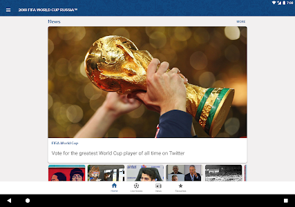 screenshot of 2018 FIFA World Cup Russia™ Official App version 4.1.18