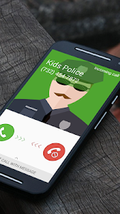 screenshot of Fake Call Kids Police version 0.7