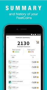 screenshot of FeetApart - Walk and Earn Rewards version 2.0.8