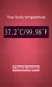 screenshot of Finger Fever Thermometer Prank version 1.0