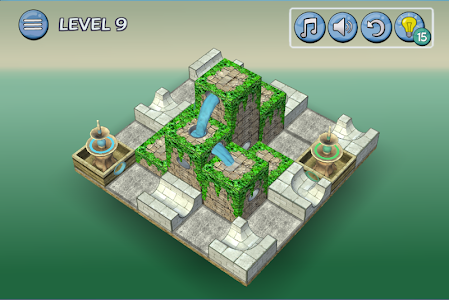 screenshot of Flow Water Fountain 3D Puzzle version 1.1